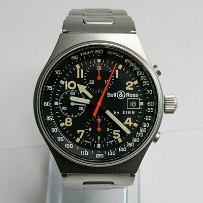 Bell & Ross by Sinn 144.GMT.ST Automatic Watch Chronograph 1990's