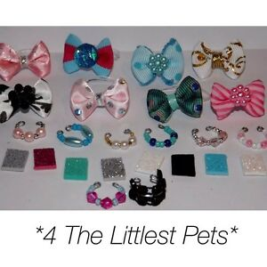 💞Littlest pet shop accessories LPS clothes 2bow 2collar 2Phone CAT NOT INCLUDED