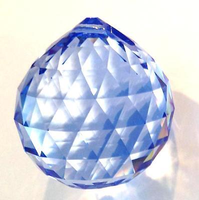Brand New Swarovski 8558-30MM Faceted Crystal Ball *Dark Sapphire*,STRASS