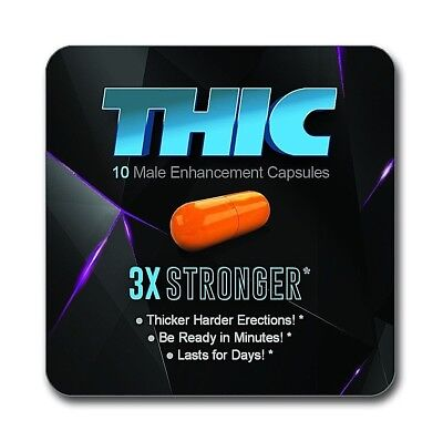 Male Gel - 10 THIC Male Enhancement GEL-CAPSULES for Thicker Harder Erections!