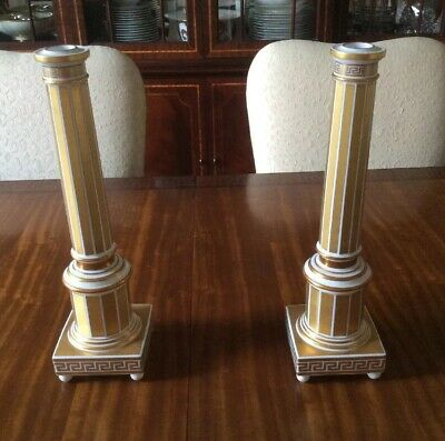 PAIR ROSENTHAL VERSACE HOME LIMITED EDITION NUMBERED RETIRED RARE CANDLESTICKS