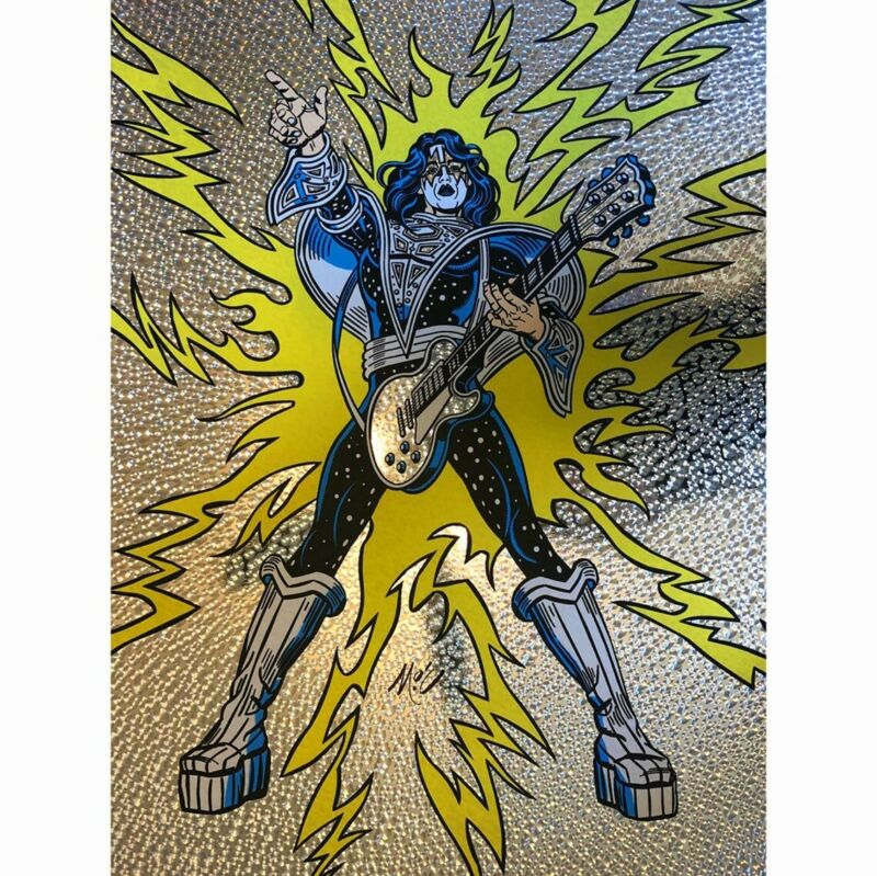 KISS Ace Frehley Foil Print poster