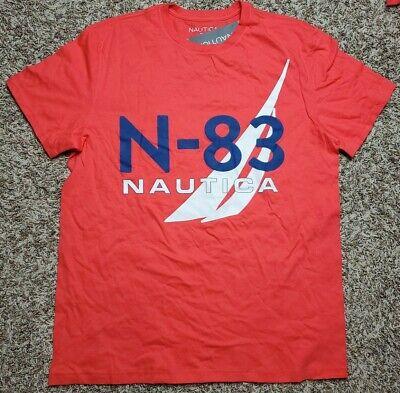 NAUTICA LTMARSRED Red Graphic Logo Crewneck T Shirt XXXL 3XL NWT Mens N-83