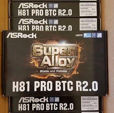 ASRock H81 PRO BTC R2.0 Motherboard 1150 INTEL H81 DDR3 Bitcoin Ethereum Mining
