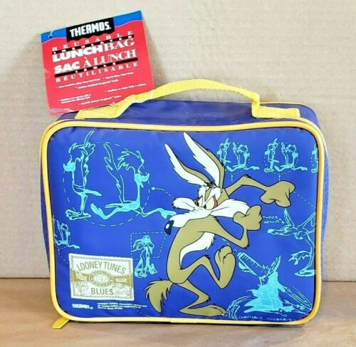 Vintage 1995 Looney Tunes Road Runner & Coyote Thermos Lunch Bag New With Tags!!
