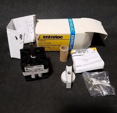 New Entrelec 051141104 Vy20 20a380v Rotary Switch 3 Pcs.