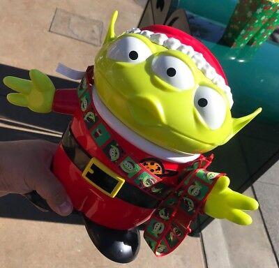 Disney Parks Exclusive Toy Story Santa Alien Christmas Popcorn Bucket - Christmas Buckets