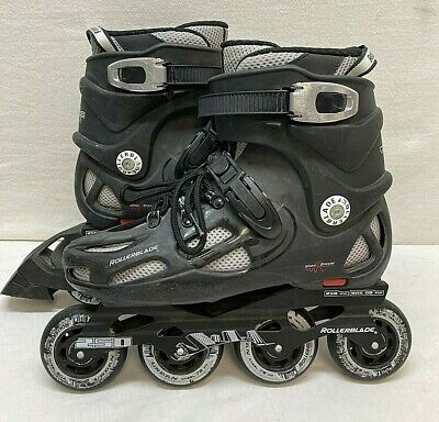 Rollerblade Twister 250 inline skates black, Men's size 8 Shock Eraser