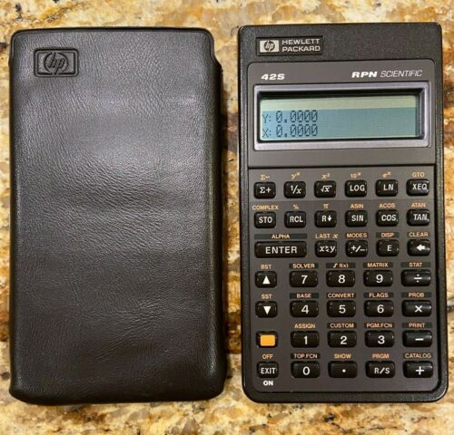 HEWLETT PACKARD HP 42S SCIENTIFIC CALCULATOR w/CASE RPN