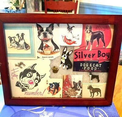 Vintage Boston Terrier Collectibles in Frame