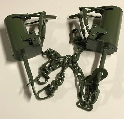 2 Powder Coated FPS DP Dog Proof Coon Traps Trapping Raccoon NEW SALE for sale  Spring Grove