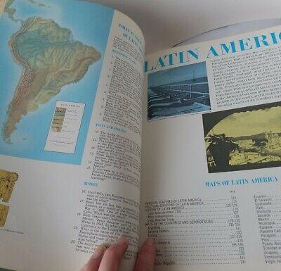 Vintage World Book ATLAS, Large, Detailed Maps Hardback 1965, Educational