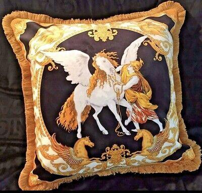 VERSACE PEGASUS HORSE PILLOW  MEDUSA VELVET with Insert  ORIGINAL SALE
