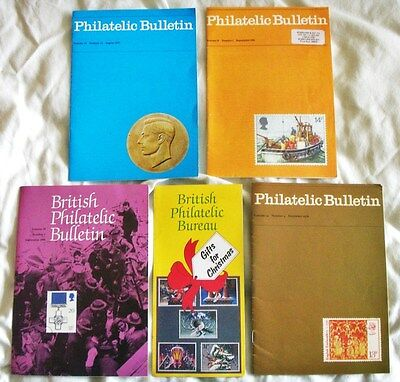 Philatelic Bulletins**x4 Vintage Booklets on GB Stamps 1976 - 1990