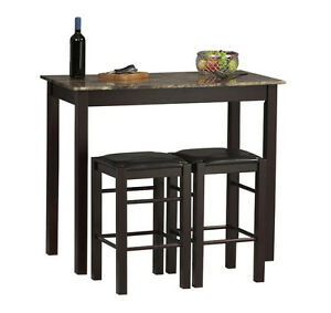 small kitchen table with stools tall set for 2 high breakfast pub nook bar space - Bar High Kitchen Tables