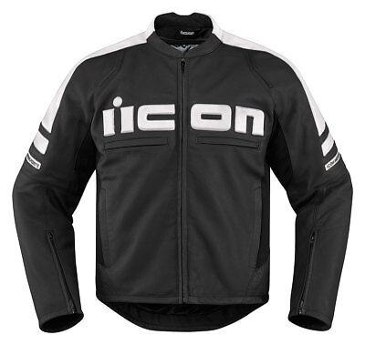 ICON MOTORHEAD 2 Leather Motorcycle Jacket (Black/White) Choose Size