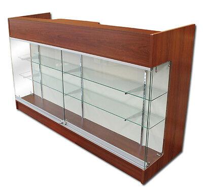 Ledgetop Pos Sales Retail Store Display Showcase Counter 6 Cherry Knockdown New