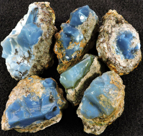 OWYHEE BLUE OPAL ROUGH - specimen, carving, cabs, metaphysical - 2 lb