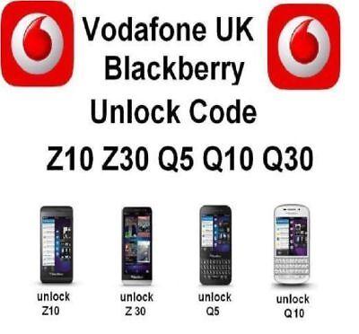 Blackberry Unlock Code Passport Z10 Z30 Q5 Q10 Q20 Q30 9720 - Vodafone UK Only