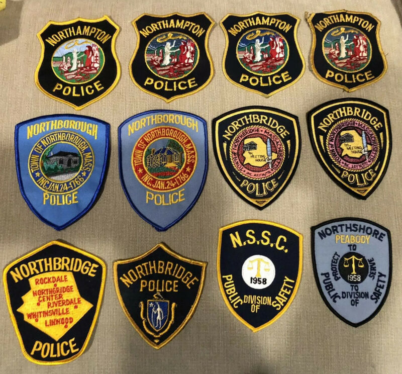 Massachusetts Police Patch Lot of 20 N's