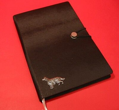 Irish Setter A5 Black Note Book Dog Journal Vet Father Mothers Useful Gift
