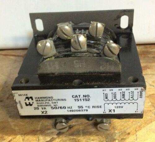 Hammond 151152 Transformers Type 3AH Pri 120-230-277-346v/Sec 120v