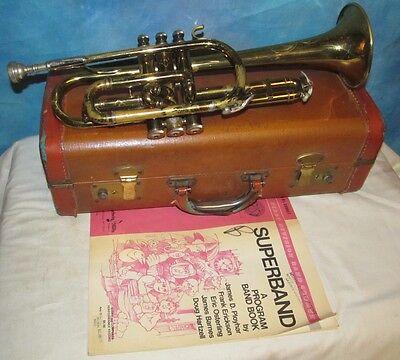 Vintage E K BLESSING Standard Cornet/Trumpet Ser #66414 w/#7C Mouthpiece J257