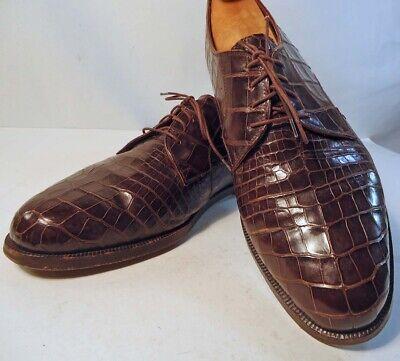CHURCH'S Mens CROCODILE Derby Shoes 11M