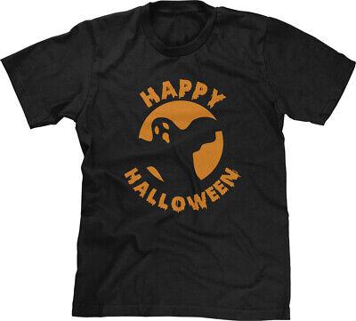 Happy Ghost Halloween Costume (Happy Halloween Ghost Party Costume Teacher Parent Office Appropriate Mens)