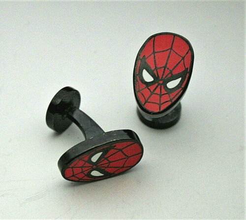 Marvel Comics Classic The Ultimate Spider-man Red Mask Cufflinks New Gift Box