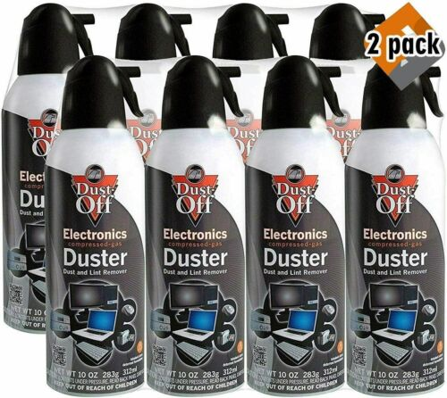 New Canned Air Falcon Dust-Off Compressed Computer Gas Duster 10 oz 8 Pack .....