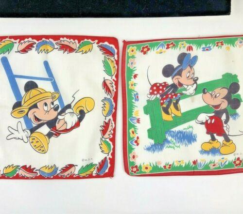 Walt Disney Micky Mouse Minnie Mouse Hankerchief WDP Vintage Lot 2