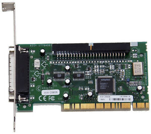 Adaptec AVA-2903B 50-Pin SCSI with DB-25 Host Bus Adapter HBA PCI Card