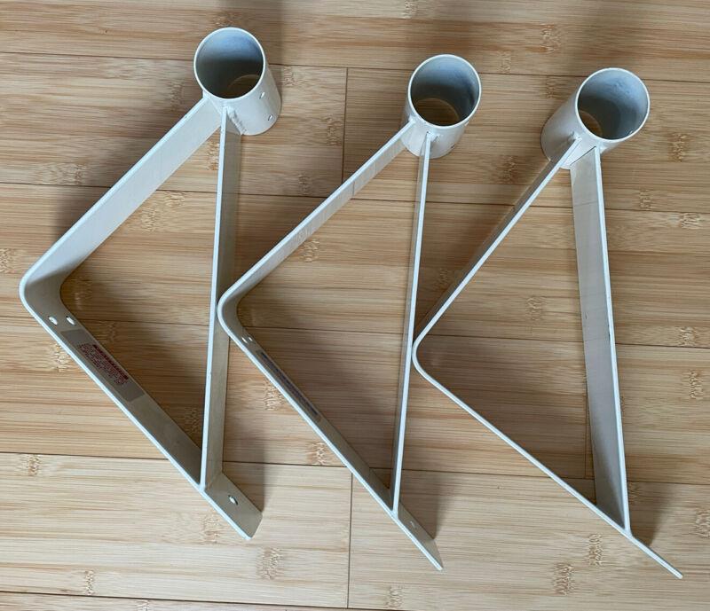 3 Professional Barre Single steel wall brackets