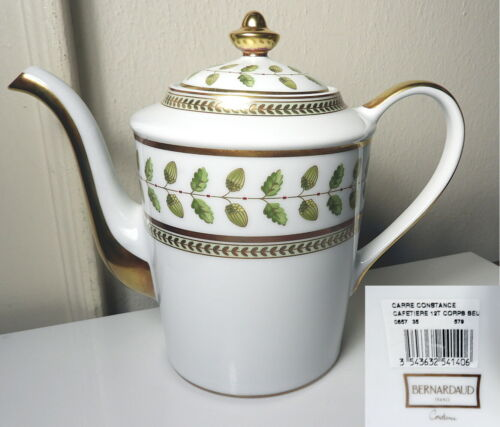 Bernardaud Limoges CONSTANCE Coffee Pot, New w/Tags