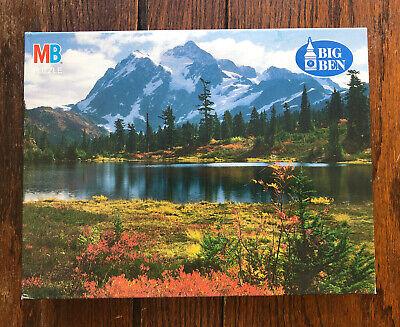 NIB MB Big Ben 1000 Jigsaw Puzzle 1993 Mt. Shuksan Highwood Lake, WA Unopened