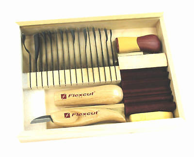 Flexcut 21 Piece Deluxe Starter Carving Set – Brand New Made In USA