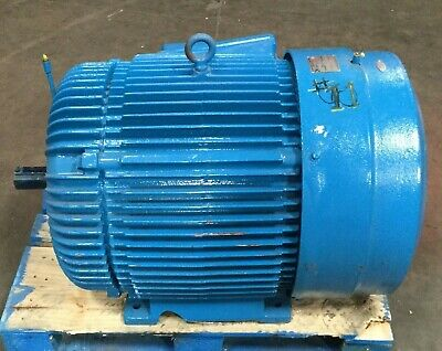 Reliance Energy Efficient 100 Hp Motor 460v 1180 Rpm 3 Ph 444ts Frame