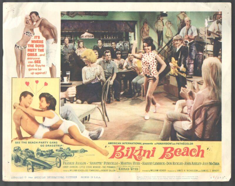 Bikini Beach 11x14 Title Lobby Card #8 Frankie Avalon Annette Funicello