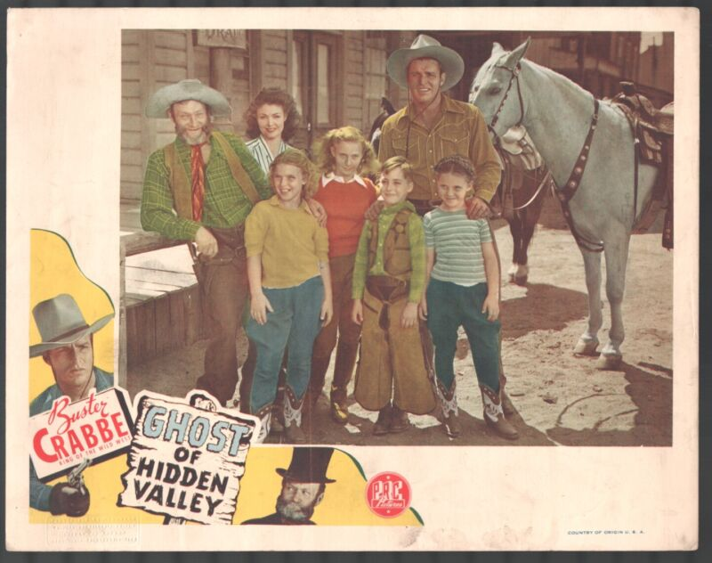 Ghost of Hidden Valley 11x14 Lobby Card Buster Crabbe Al