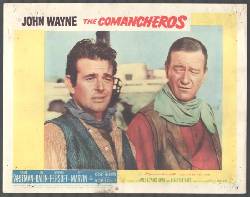Comancheros 11x14 Title Lobby Card John Wayne Stuart Whitman