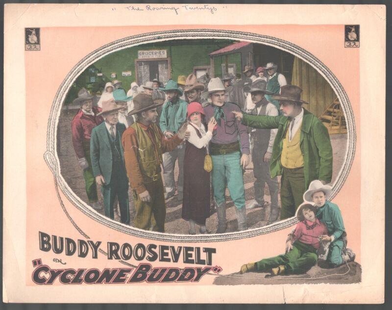 Cyclone Buddy 11x14 Lobby Card Buddy Roosevelt Norma Conterno