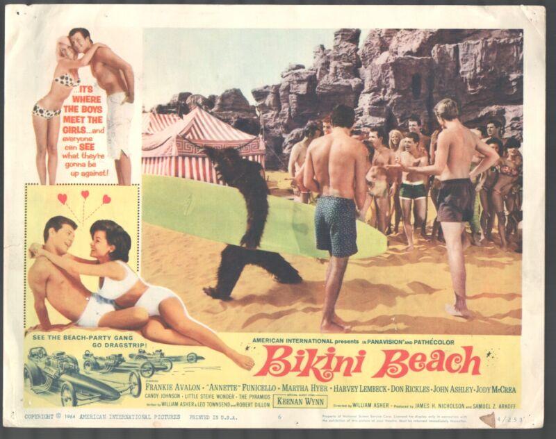 Bikini Beach 11x14 Title Lobby Card #6 Frankie Avalon Annette Funicello