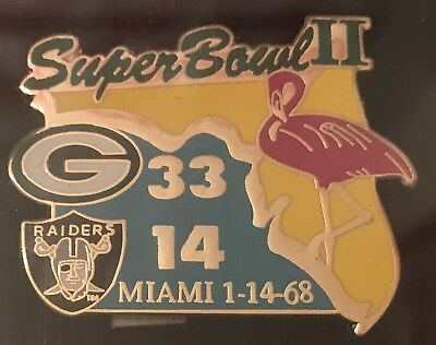 Super Bowl 2 Final Score Pin Green Bay Packers vs  Oakland (Green Bay Packers Last Super Bowl)