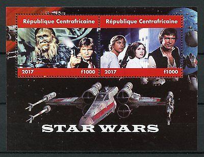 Central African Rep 2017 CTO Star Wars Han Solo Luke Skywalker 2v M/S Stamps