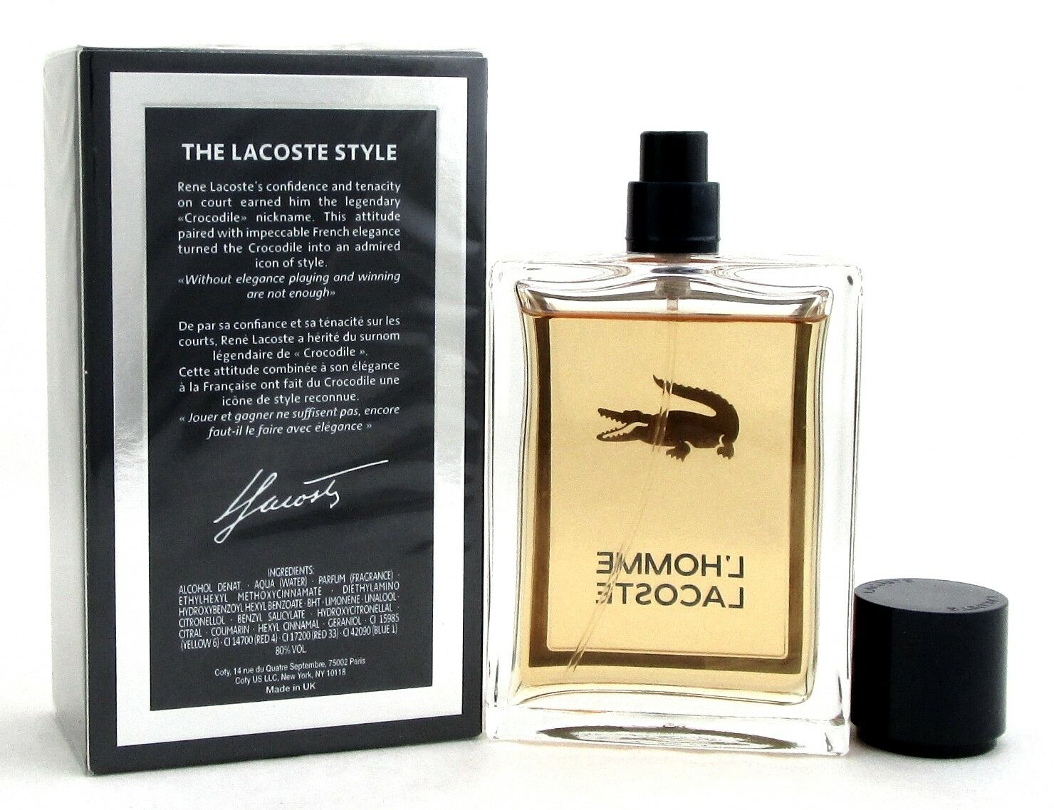 L'Homme Lacoste Cologne 3.3 oz./100 ml. EDT Spray for Men. New In Sealed Box.