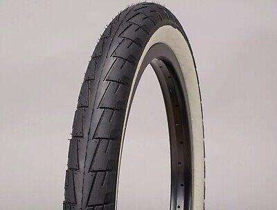 MAFIABIKES Lagos Crawler Black / Whitewall 20 x 2.40 BMX Tyres - set of 2 tyres