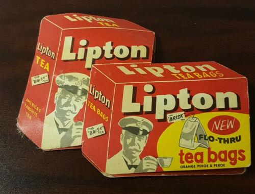 Vintage New Flo Thru Lipton Tea Bags Sewing Kit with Various Needle Sizes