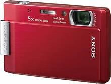 Sony CyberShot DSC-T100 Red Digital Camera, 8MPixel + 16GB Stick Five Dock Canada Bay Area Preview