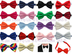 Bow-Tie-Satin-Silk-Formal-Party-Dance-Costume-Wedding-Groom-Bestman-Bowtie